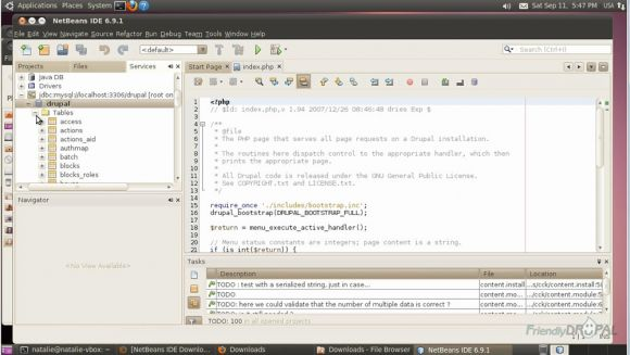 Add Drupal website to the Netbeans