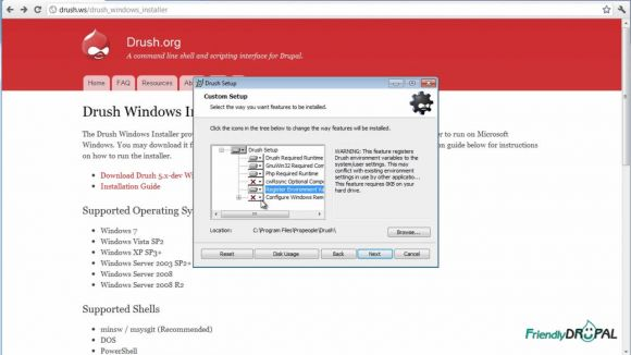 Install Drush for Windows